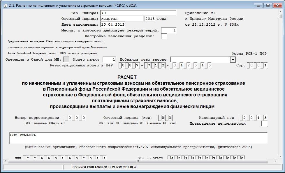 бланк рсв-1 за 2013 год скачать бесплатно - фото 4
